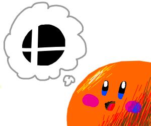 orange kirby dreams of being in smash