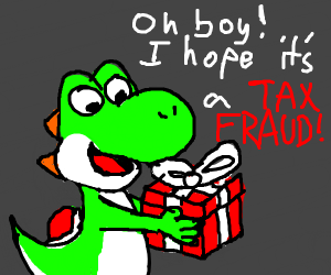 Yoshi Wishes for Tax Fraud This Christmas