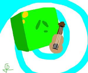 slime plating an guitar