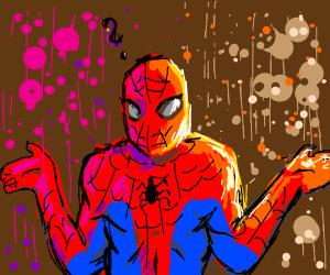 Confused Spiderman