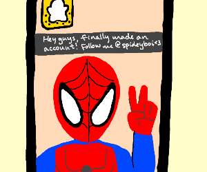 Spiderman gets snapped