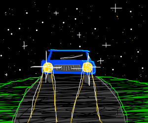 Driving under the stars