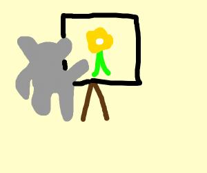 Koala paints you a flower picture