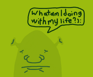 Shrek has an external crisis