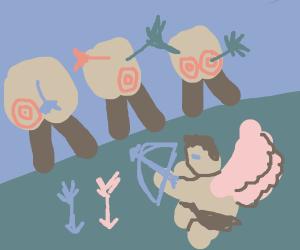 Cupid's target practice