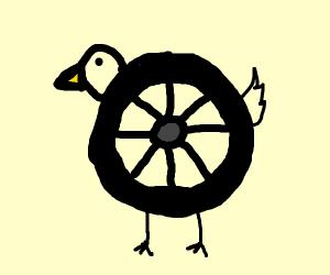 Bird wheels.