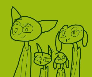 Furry family photo