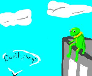 I'm gonna Kermit suicide