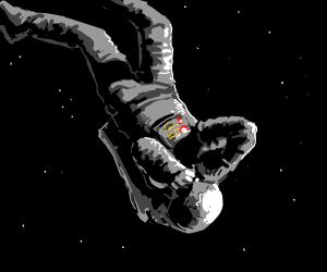 adrift astronaut struggles to breathe