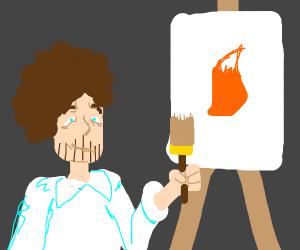 Bob Ross Drawing Tails