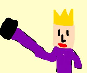 King taking a selfie