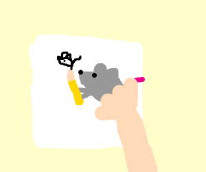 make a drawing with your mouse ;)