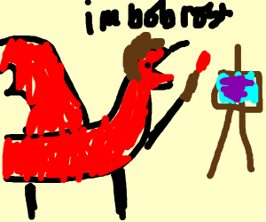 bob ross dragon