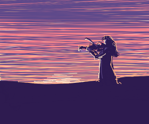 Violinist at Peace