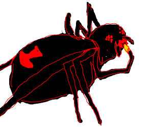 Black Spider With Red Lipstick