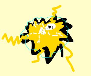 electrocuted skelton