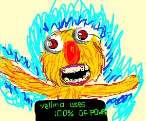 Yellmo uses 100 percent power