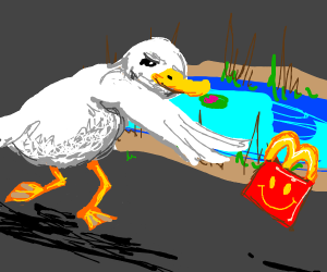 Duck throwing mc happy meal