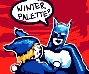 batman in winter palette