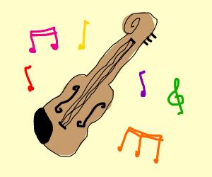 Violin man playing music