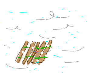 Raft in a Blizzard