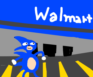 Sanic goes to Walmart