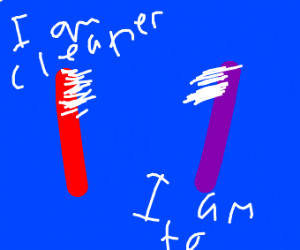 purple and red tooth brush