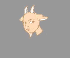 A human billy goat girl