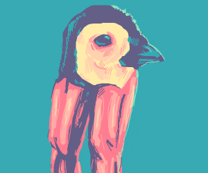 Penguin with human legs. Why.