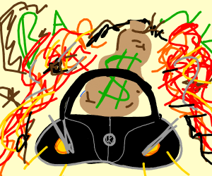 Black Bug Stealing Cash