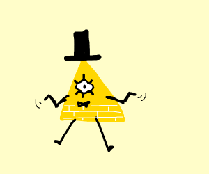 Bill Cipher doing a shrug
