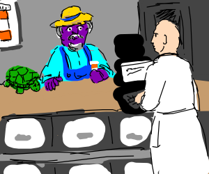 A Purple Fella, A Turtle, And Prescriptions