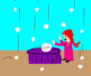 Fortune Teller in a Hailstorm