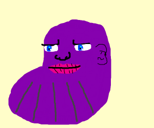 the huge chin of thanos