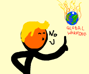 Man in denial of global warming