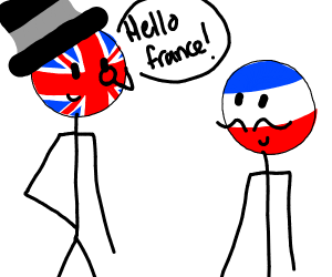 Britain saying hello to France