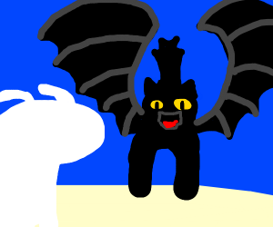 toothless and his girlfriend dragon thing