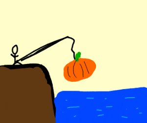 I fished out a pumpkin!