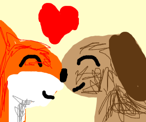 Dog and Fox fall in love