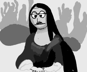 the Mona Lisa but disturbing