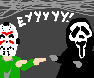 Jason and Ghostface appreciating each other