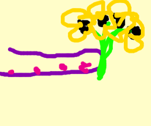 tentacle but with flowers but its fake??