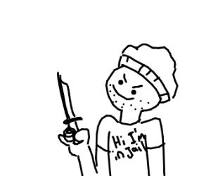 Prisoner w/ a knife