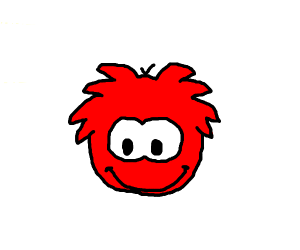 Red Puffle smiling (Club Penguin)