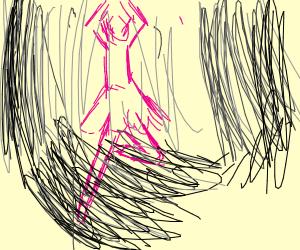 Ballerina dancing in the dark
