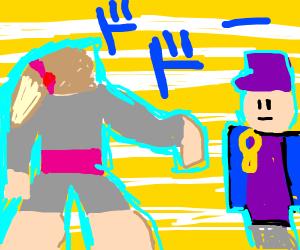 Jotaro approaches Jojo Siwa