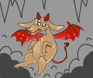 Multi-Eyed Winged Goat Demon