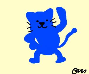 Cute blue cat