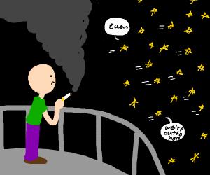 man's cigar odor so bad that the stars flee