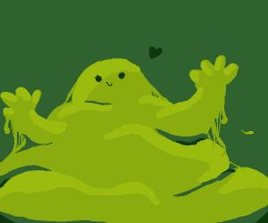 a friendly goo monster